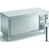 Стол тепловой раздаточный, 1600х700х850мм, без борта, закрытый, двери-купе, нерж.сталь, край прямой