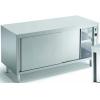Стол тепловой раздаточный, 1400х700х810мм, без столешницы, сквозной, закрытый, двери-купе, нерж.сталь