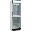 Шкаф холодильный д/напитков, 372л, 2 двери стекло, 5 полок, ножки+колеса, +2/+10С, стат.охл.+вент., белый, канапе