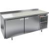 Cтол холодильный для кег, L1.84м, борт H50мм, 2 двери глухие, ножки, 505л, +2/+10С, нерж.сталь, дин.охл., агрегат правый, 3 кеги