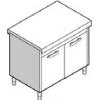 Прилавок раздаточный нейтральный, L1.13м, стенд закрытый, двери распашные, нерж.сталь