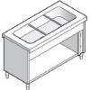 Прилавок раздаточный для вторых блюд, L1.13м, 3GN1/1, стенд полузакрытый без двери, нерж.сталь, паровой