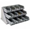 Стойка с 12 ящиками L 64,8см w 54,3см h 36,2см, серый пластик
