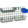 Комплект аксессуаров для настенной решётки WG: 2 корзины, 1полка-решётка, 8 крючков, контейнер, 1 держатель, покрытие Metroseal3-Microban