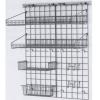 Система хранения настенная: 2 решётки, 3 полки-решётки, 1 корзина, 6 крючков, кронштейны, покрытие Metroseal3-Microban