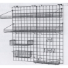 Система хранения настенная: 2 решётки, 4 полки-решётки, 1 корзина, 6 крючков, кронштейны, покрытие Metroseal3-Microban