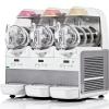 Фризер для мягкого мороженого, слаша и сорбетов настольный, 3 узла раздаточных, 3 ванны 6л, белый, охл.воздушное
