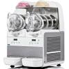 Фризер для мягкого мороженого, слаша и сорбетов настольный, 2 узла раздаточных, 2 ванны 6л, белый, охл.воздушное, подсветка, ключ